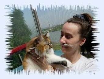 Fellbandes Dosi Ulrike als Katze mit Flauschi!